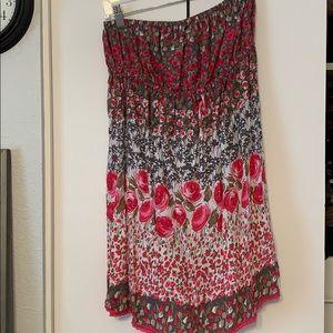 Forever 21 strapless dress